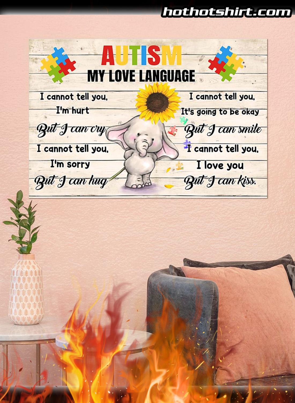 Autism my love language elephant poster 3