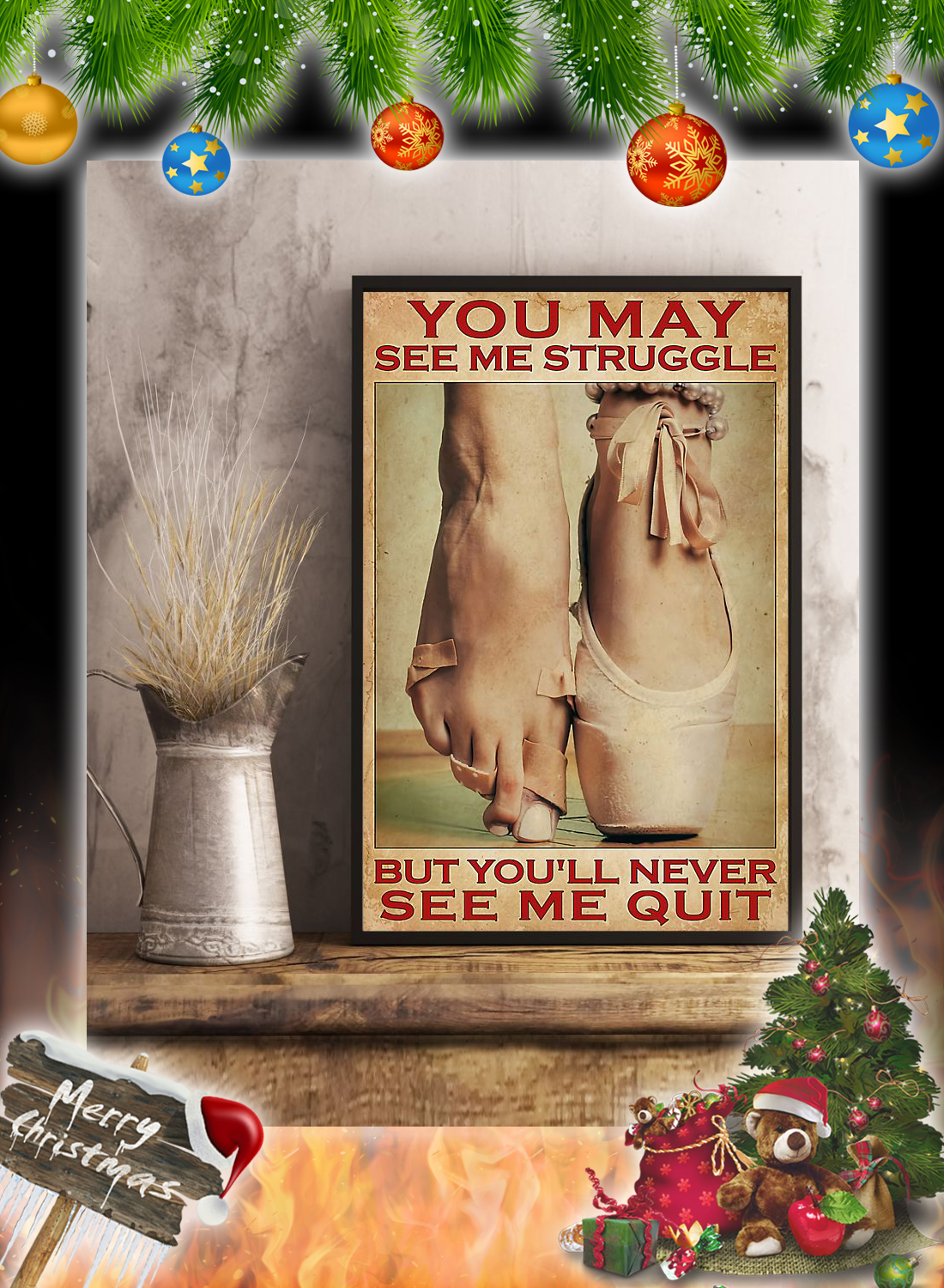 Ballet You may see me struggle poster 2