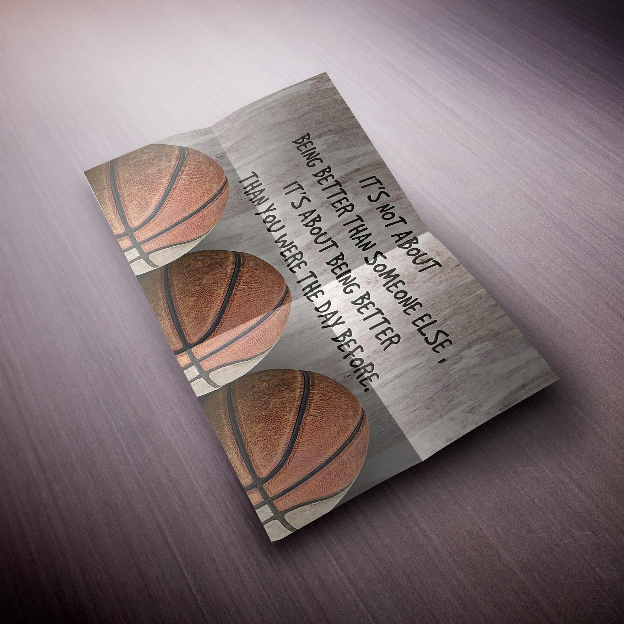 Basketball It's not about being better than someone else poster and canvas