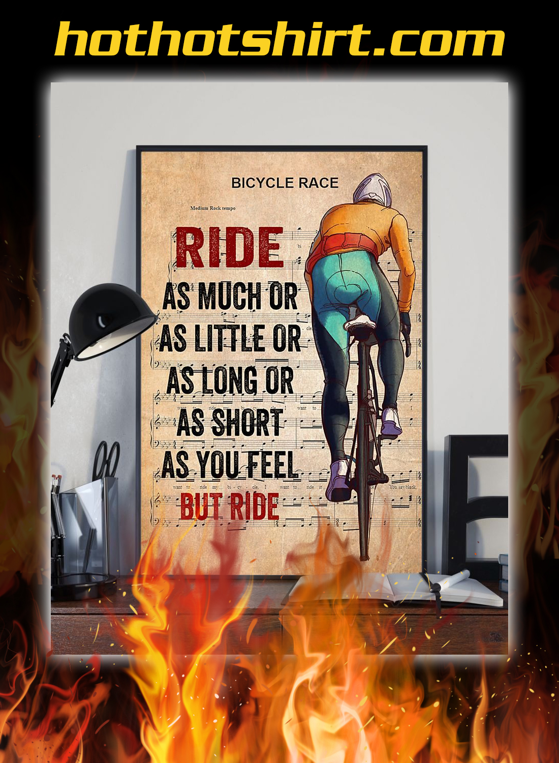 Bicycle Race Cycling Ride as much or as little poster 2