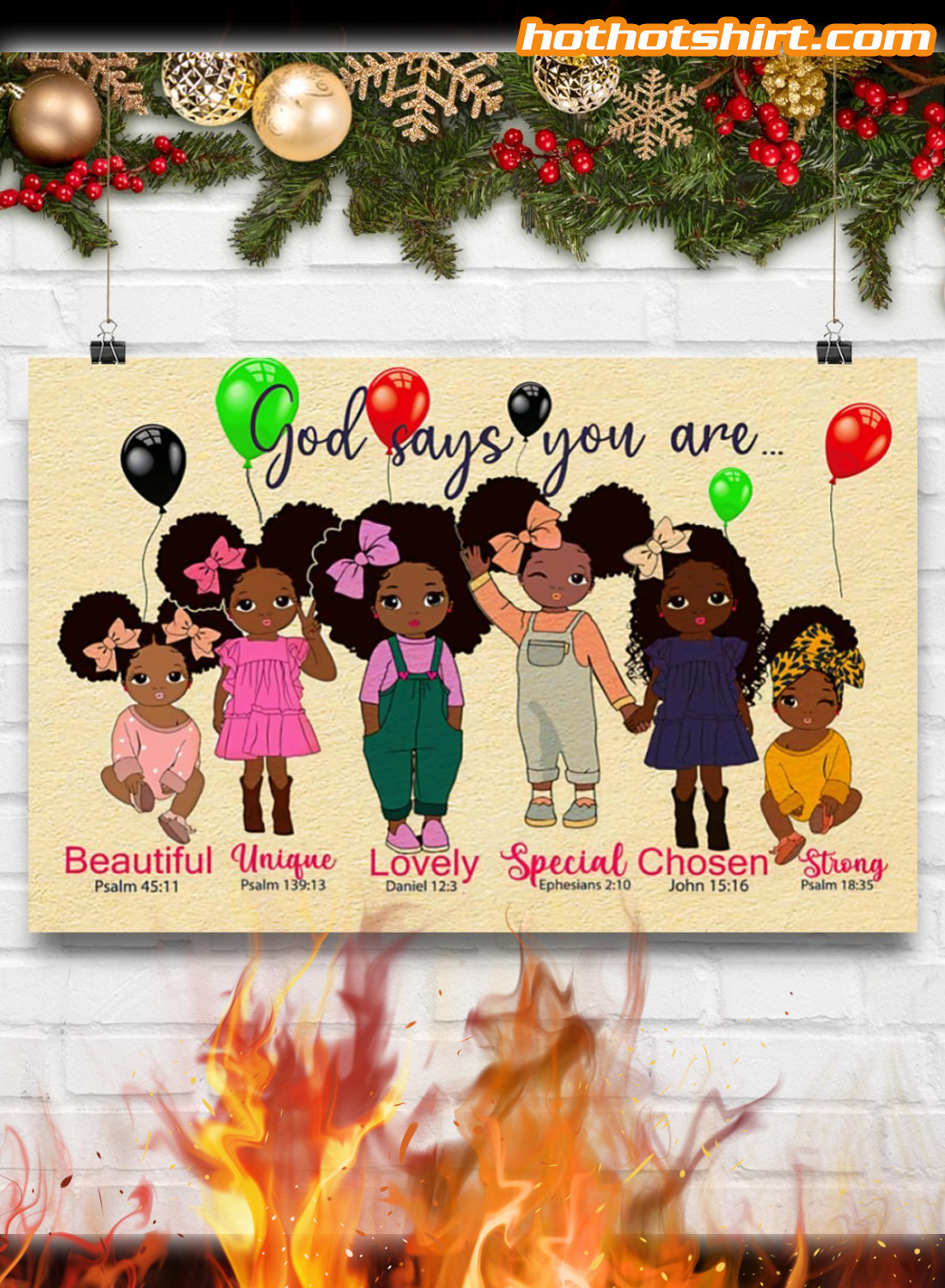 Black children God says you are poster 2