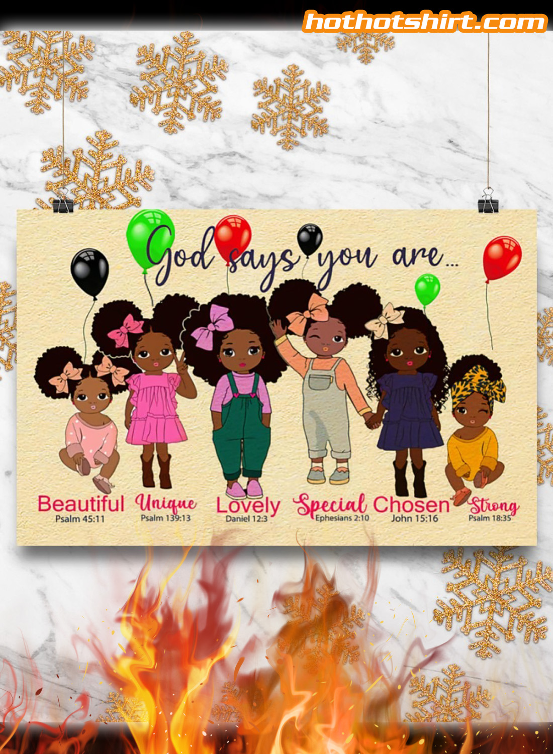 Black children God says you are poster 3