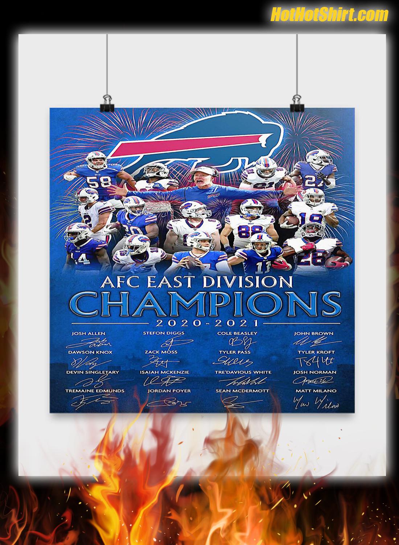 Buffalo Bill AFC Champions 2020 2021 Poster 2