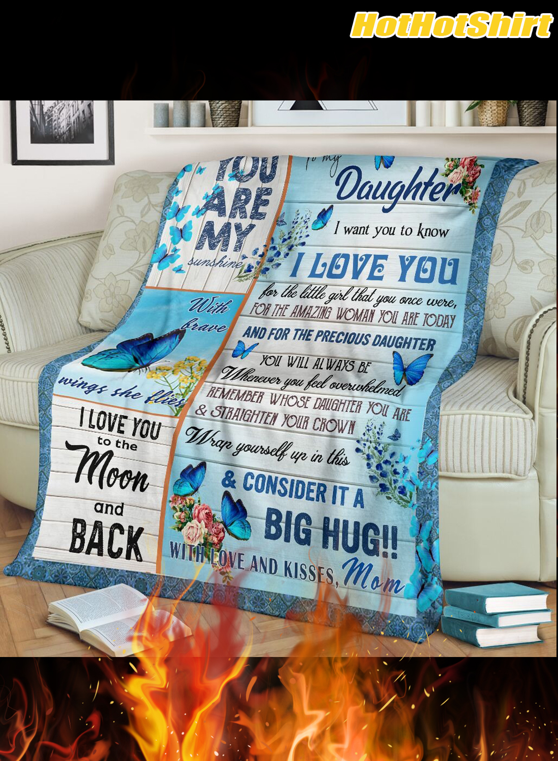 Butterfly to my daughter i want you to know i love you your mom blanket 2