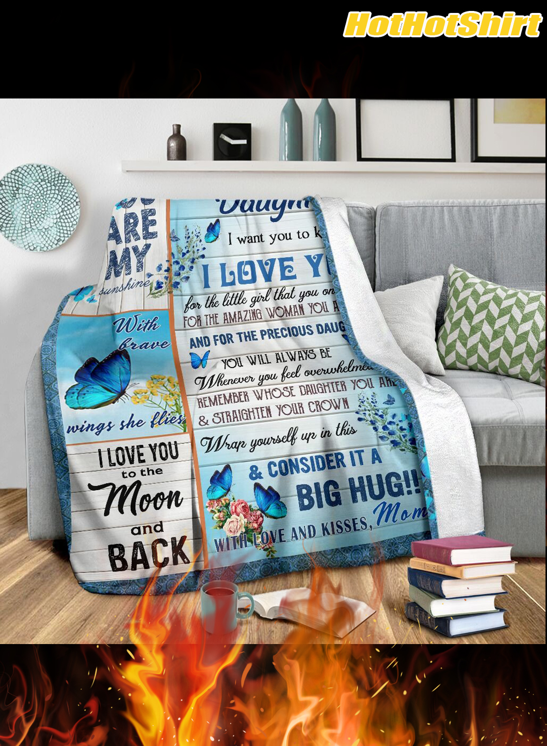 Butterfly to my daughter i want you to know i love you your mom blanket 3