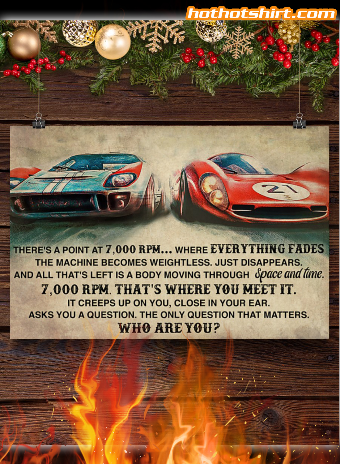 Car Racing There's a point at 7000 RPM Who Are You Poster 2