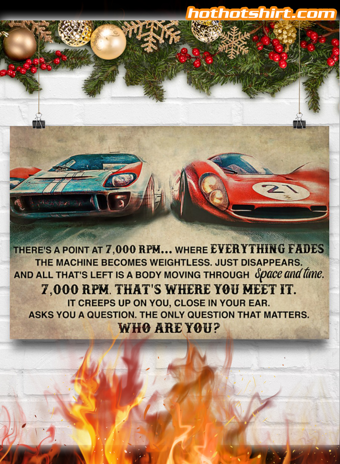 Car Racing There's a point at 7000 RPM Who Are You Poster 3