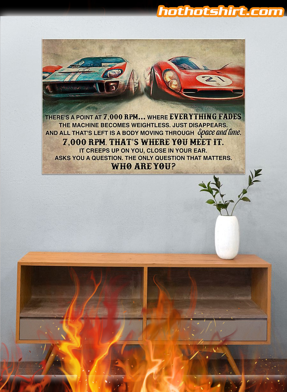 Car racing there's a point at 7000 RPM poster 2
