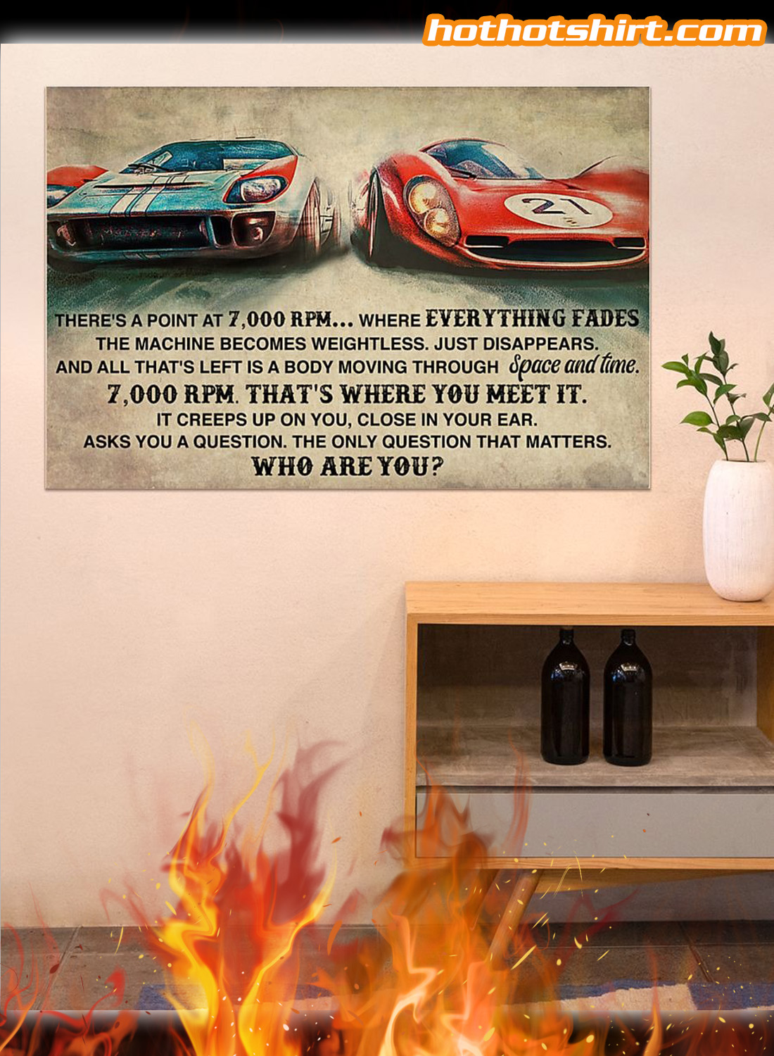 Car racing there's a point at 7000 RPM poster 3
