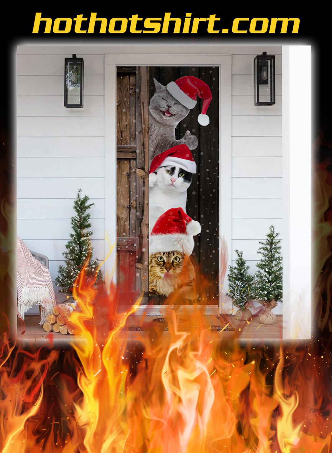 Cat Christmas Door Cover - pic 1