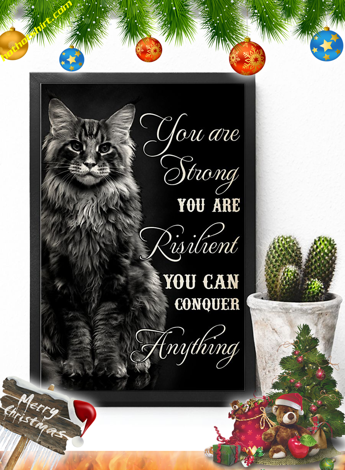 Cat You are strong you are risilient poster 2