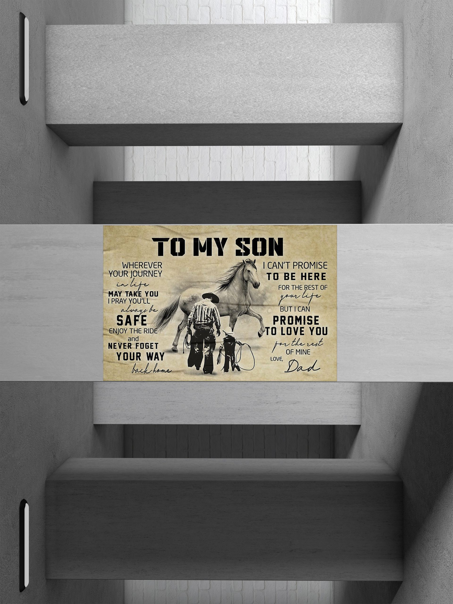 Cowboy Dad And Son Poster 1