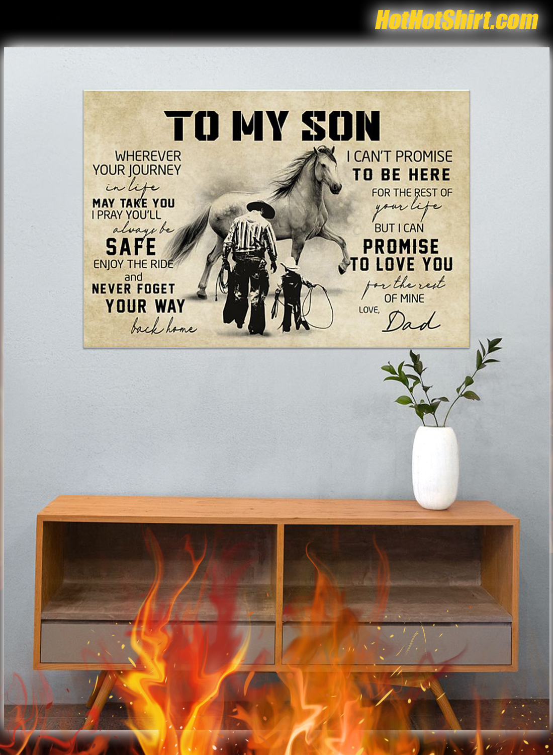 Cowboy Dad And Son Poster 3