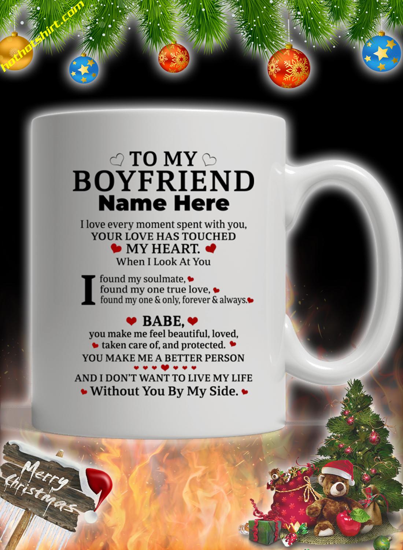 Customise custom name To my boyfriend mug