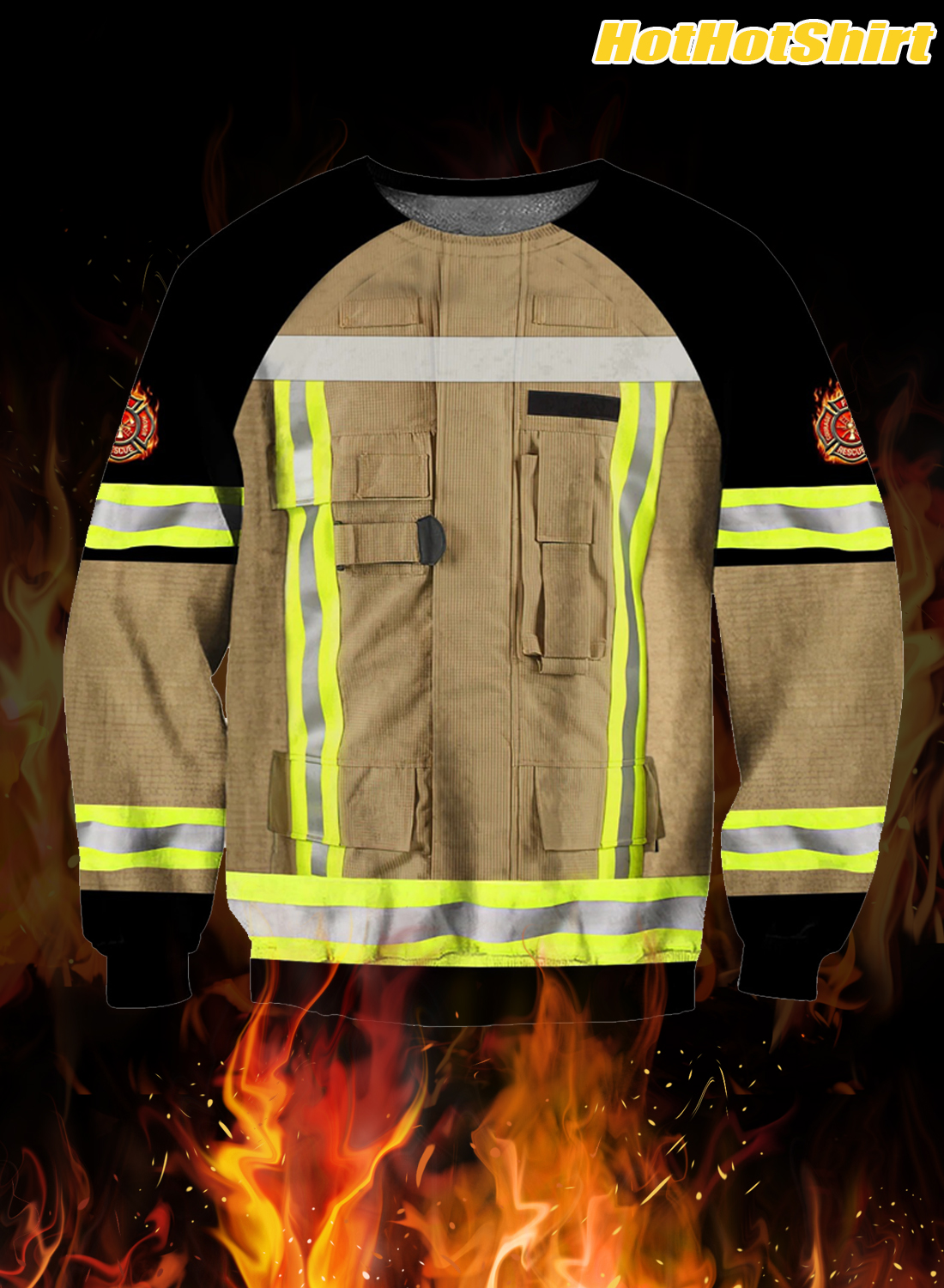 Customize Name Firefighter 3D All Printed Hoodie 2