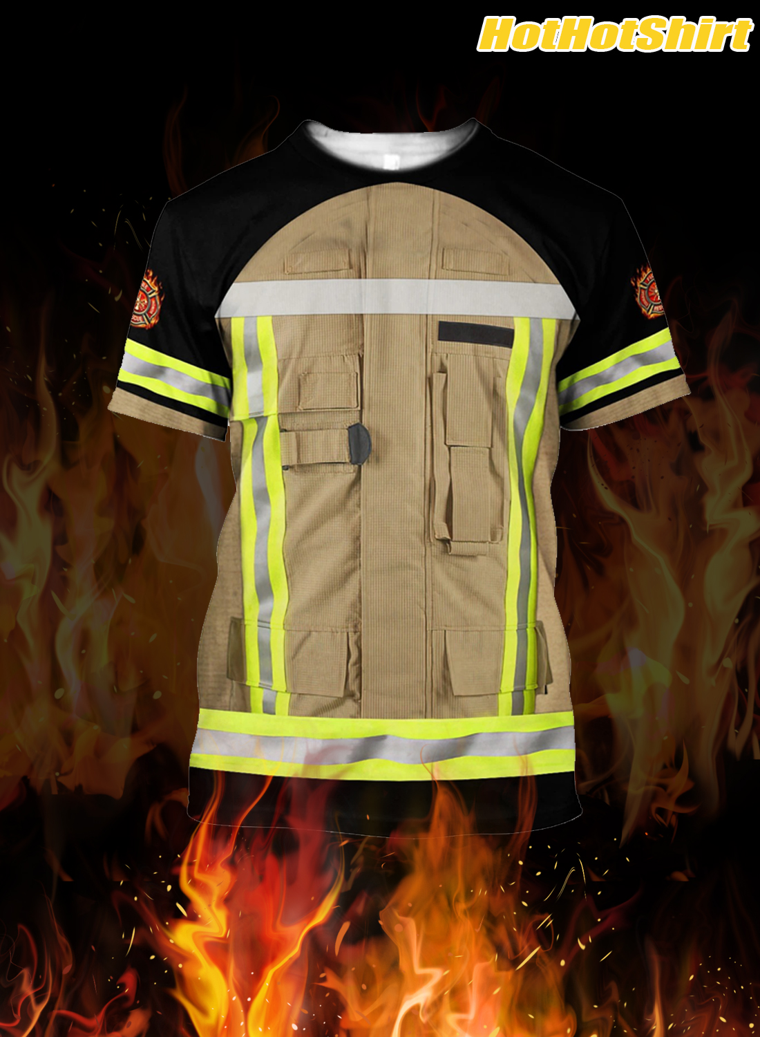 Customize Name Firefighter 3D All Printed Hoodie 3