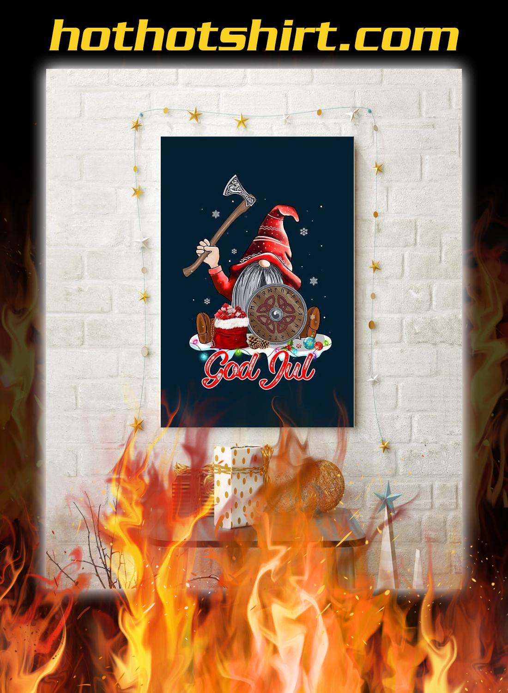 Cute viking god jul poster 3