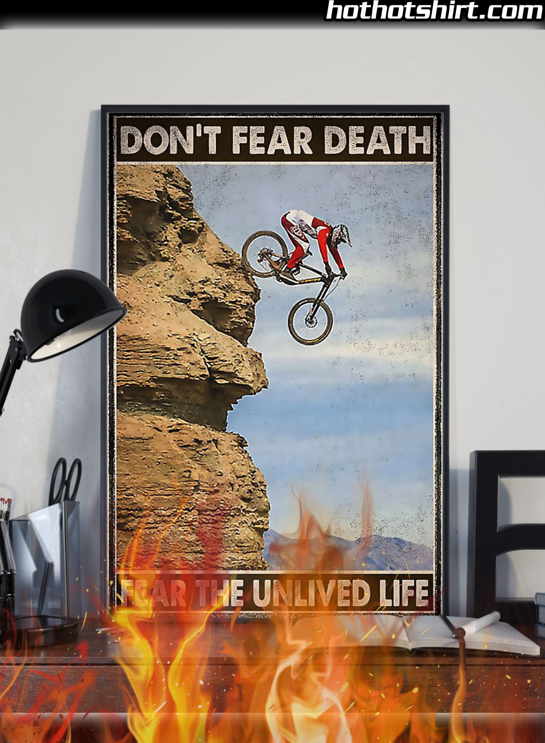 Cycling Don't Fear Death Fear The Unlived Fife Poster 1