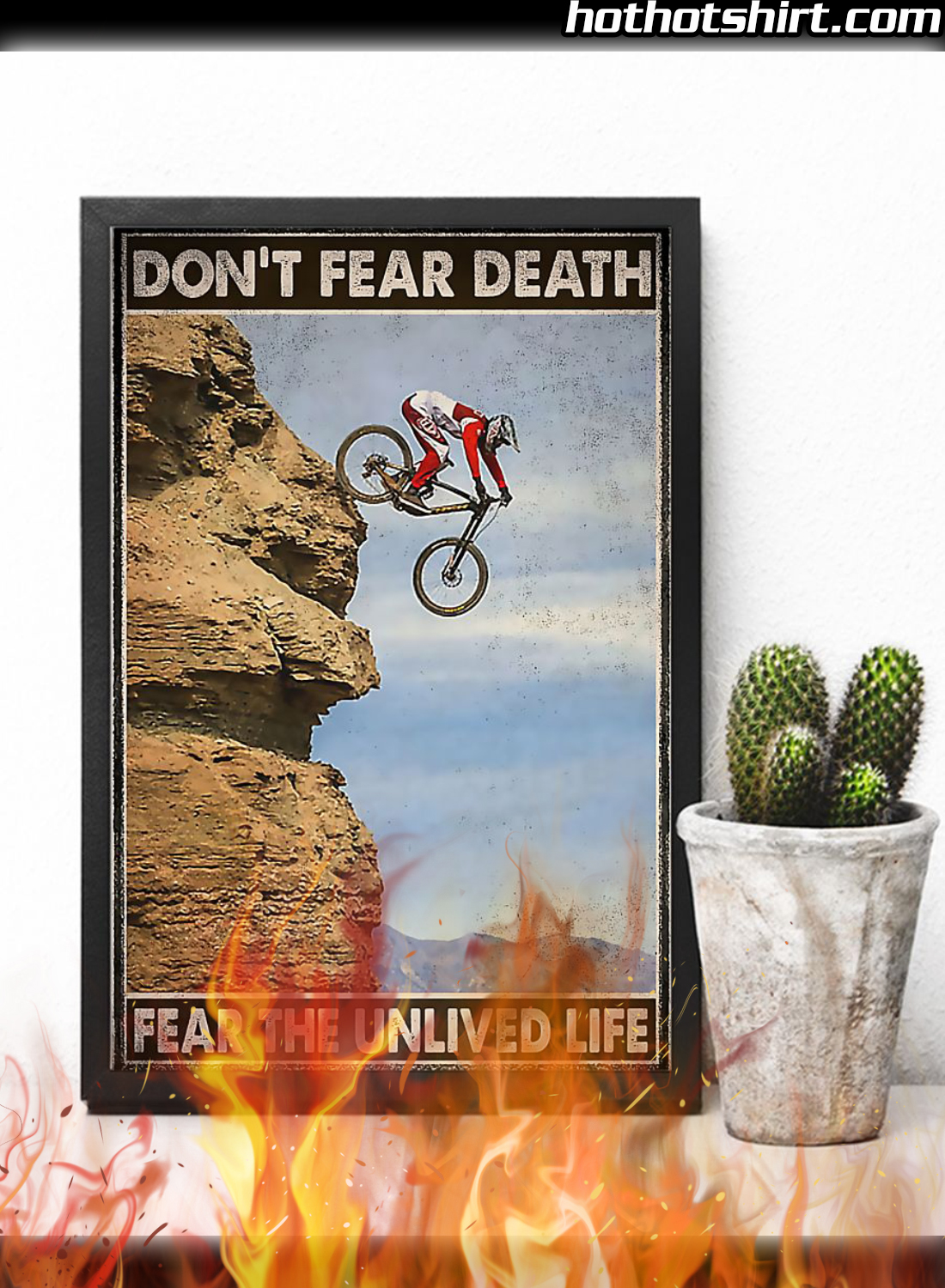 Cycling Don't Fear Death Fear The Unlived Fife Poster 3