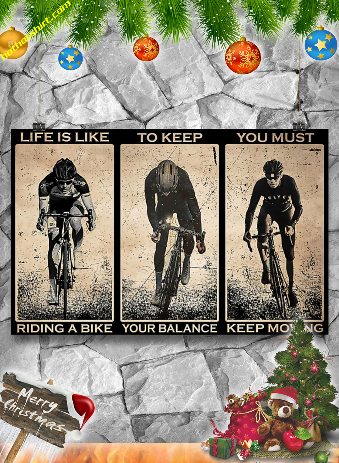 Cycling Life is like riding a bike poster 1