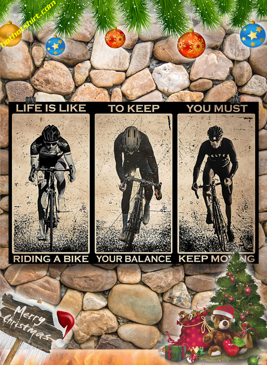 Cycling Life is like riding a bike poster 2Cycling Life is like riding a bike poster 2