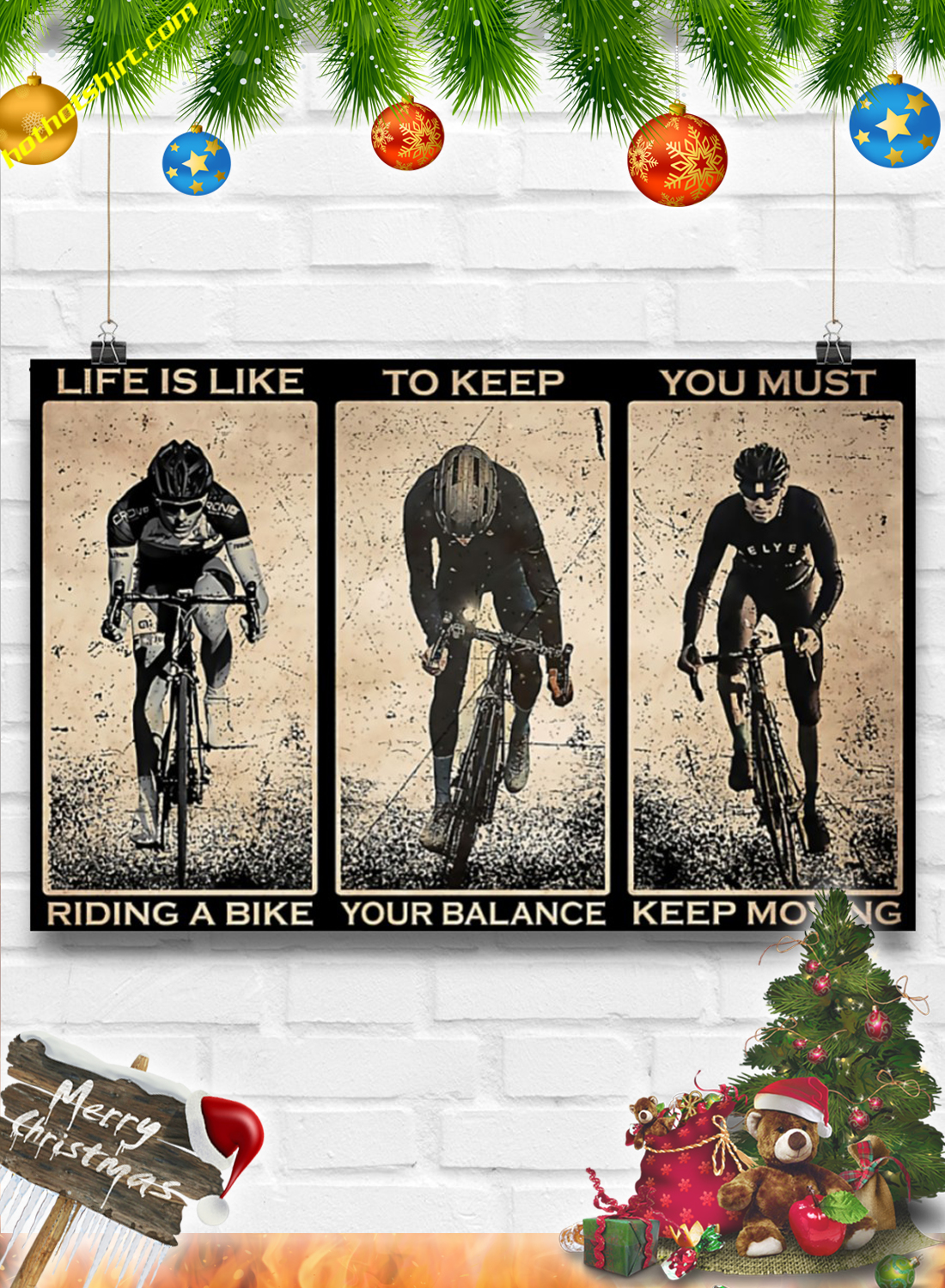 Cycling Life is like riding a bike poster 3