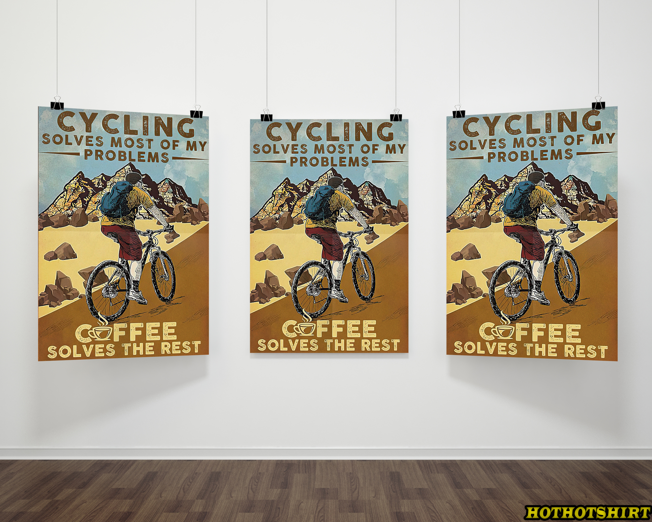 Cycling Solves Most Of My Problems Coffee Solves The Rest poster 1