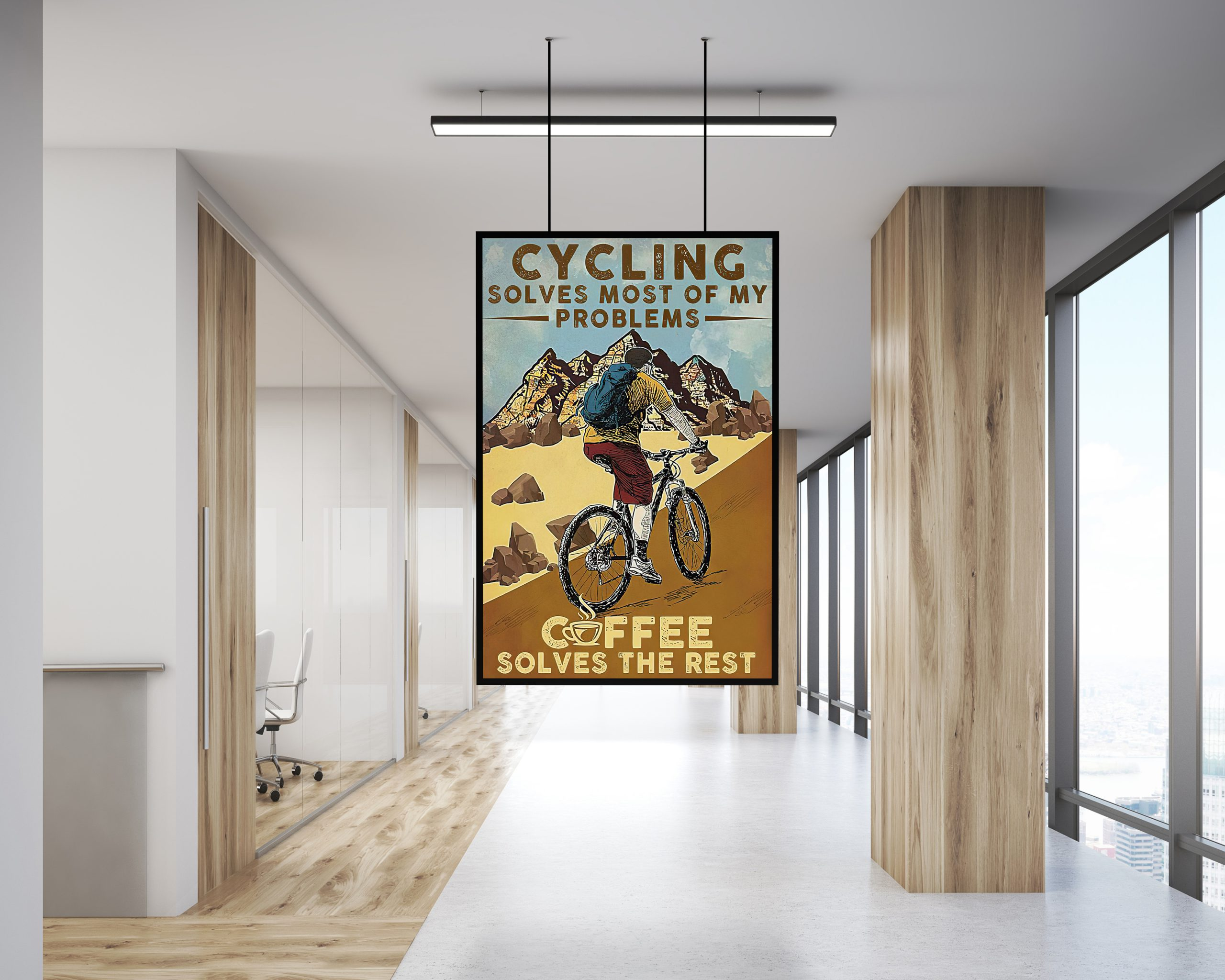 Cycling Solves Most Of My Problems Coffee Solves The Rest poster 2