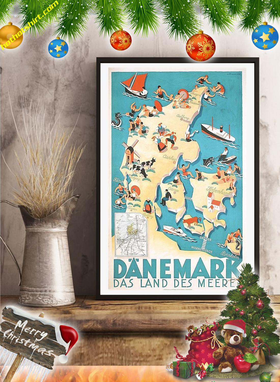 Danemark das land des meeres vintage travel poster 1