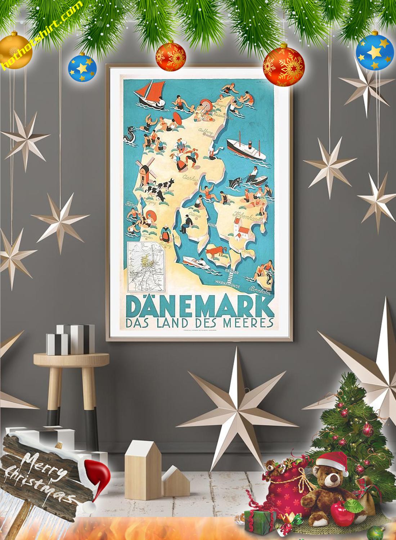 Danemark das land des meeres vintage travel poster 2