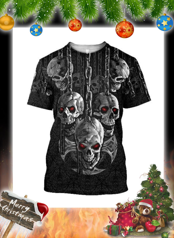 Dark Art Skull 3d Hoodie and Shirt 4