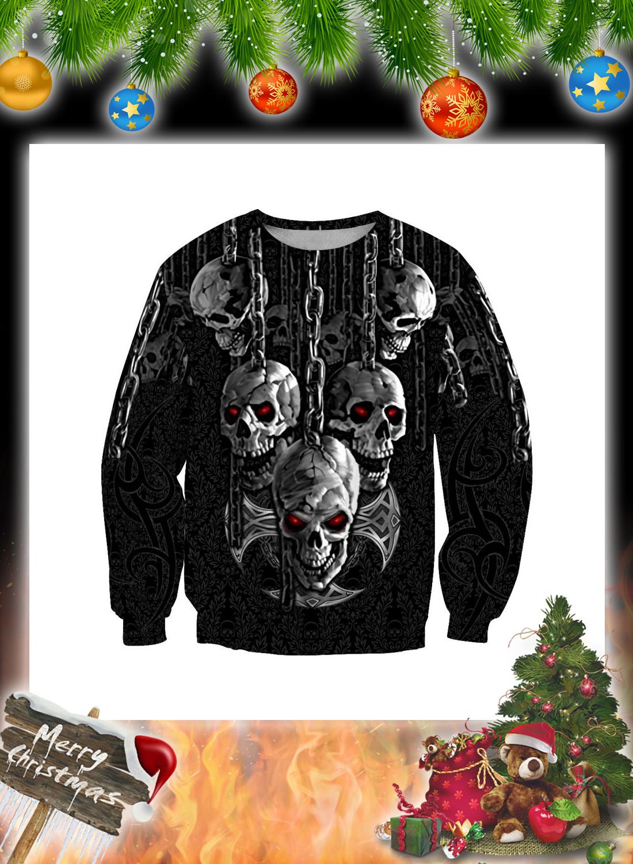Dark Art Skull 3d Hoodie and Shirt