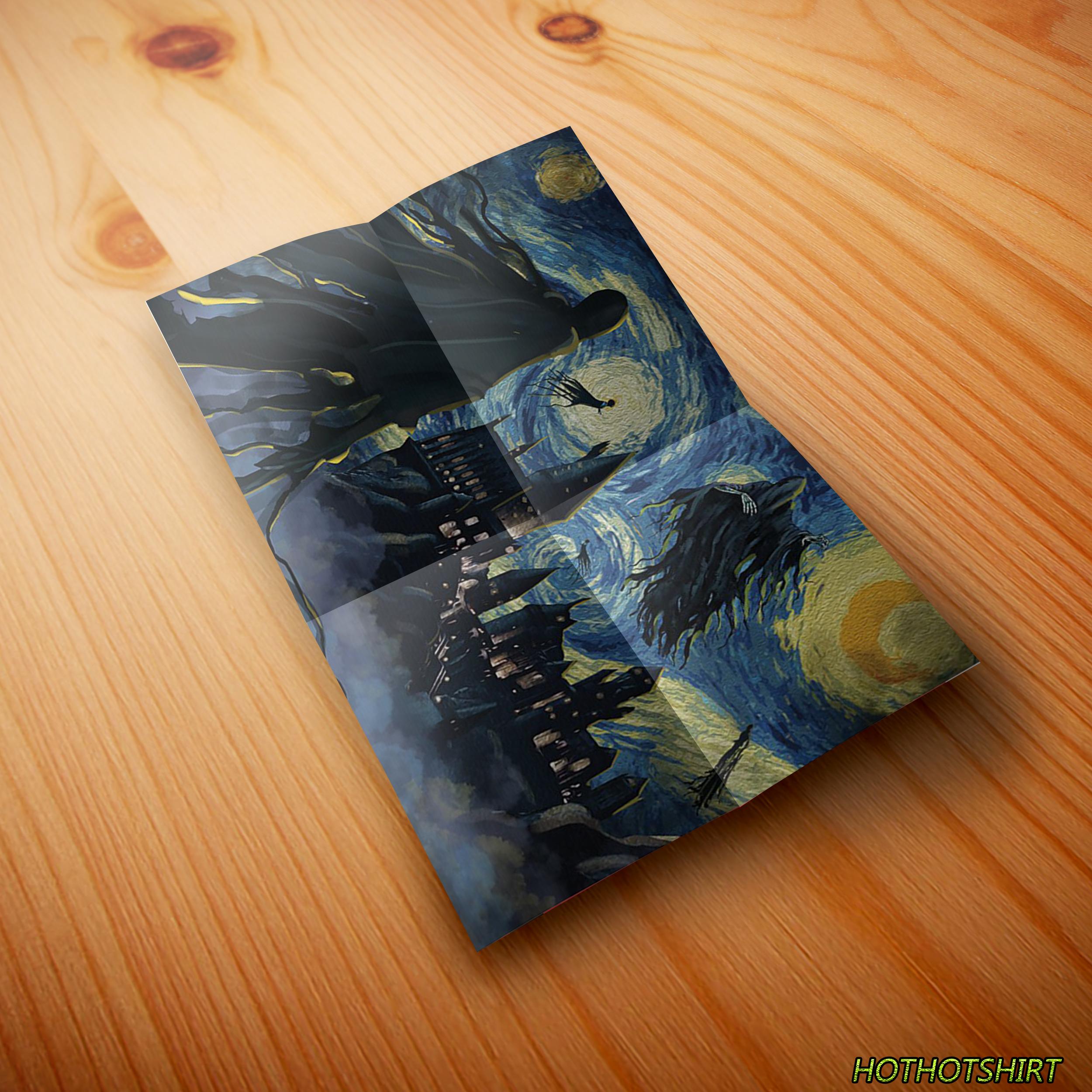 Dementor of Azkaban Hogwarts Starry Night Poster