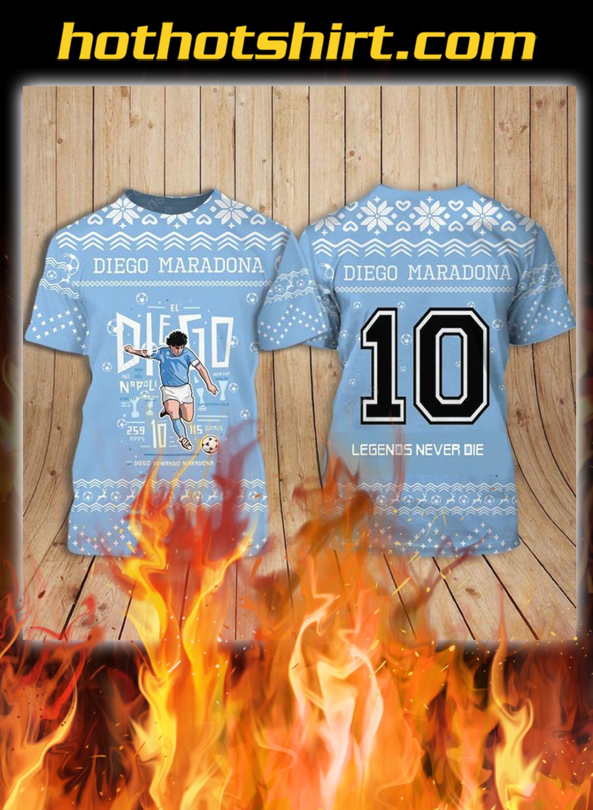 Diego maradona ugly christmas shirt