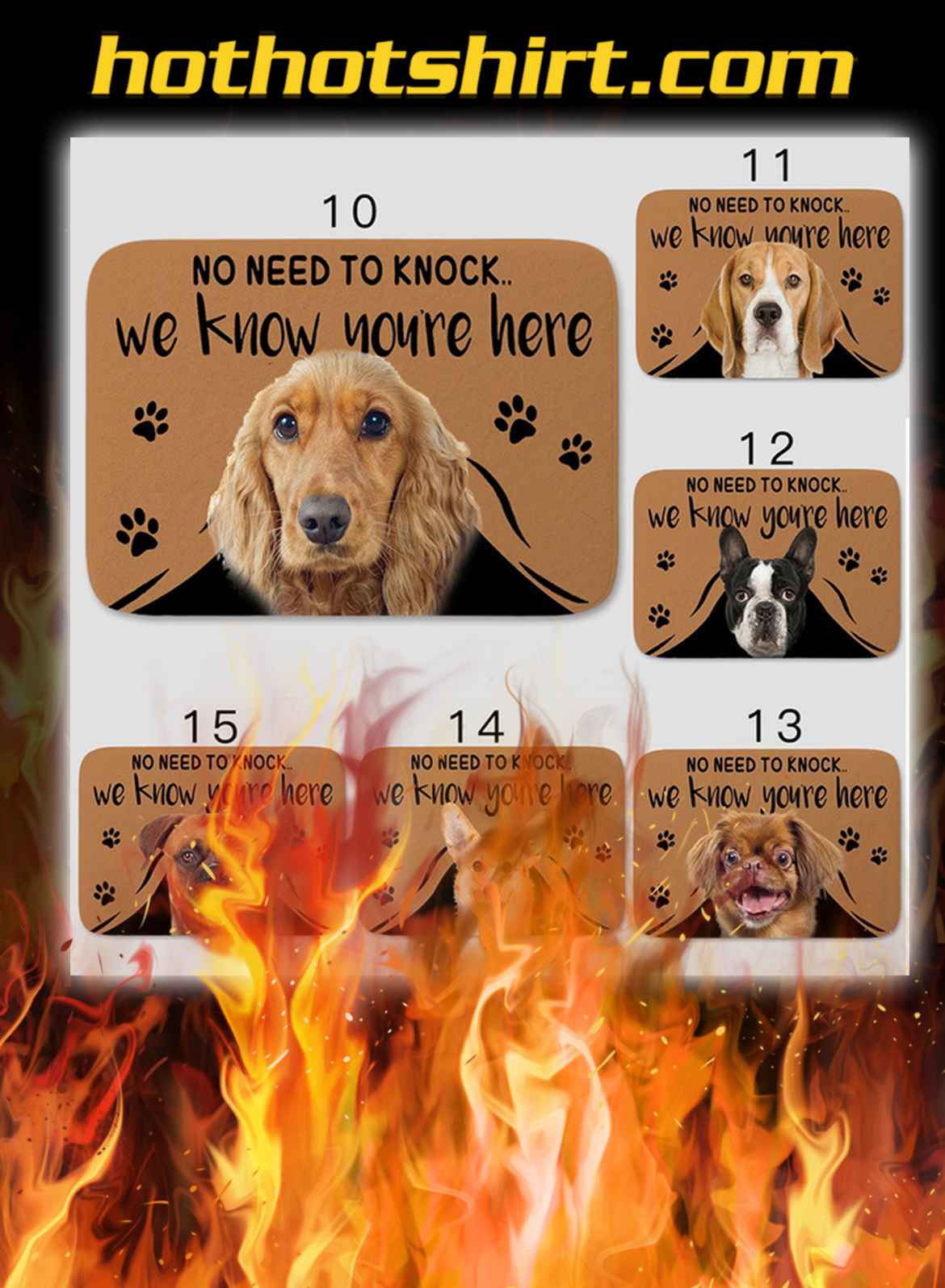 Dog No Need To Knock We Know You Are Here Doormat- pic 1