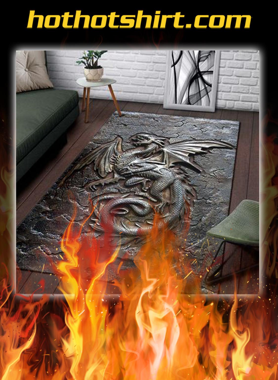 Dragon cracks metal pattern print rug- pic 2