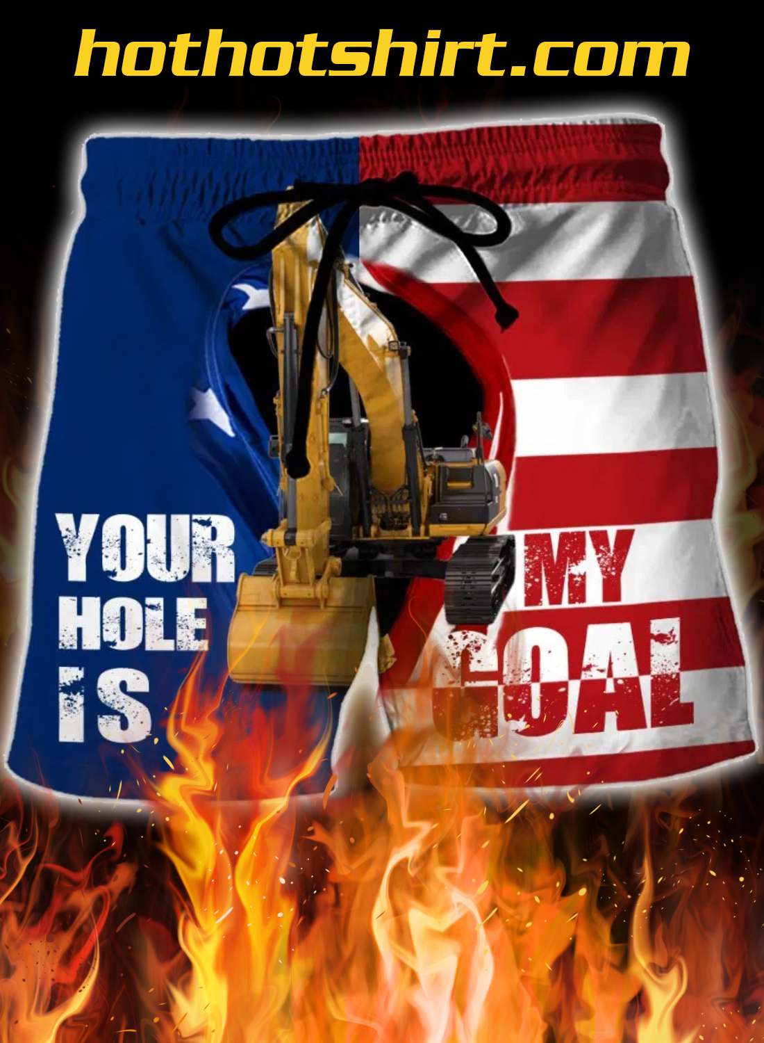 Excavator Your Hole Is My Goal 3D Short 1