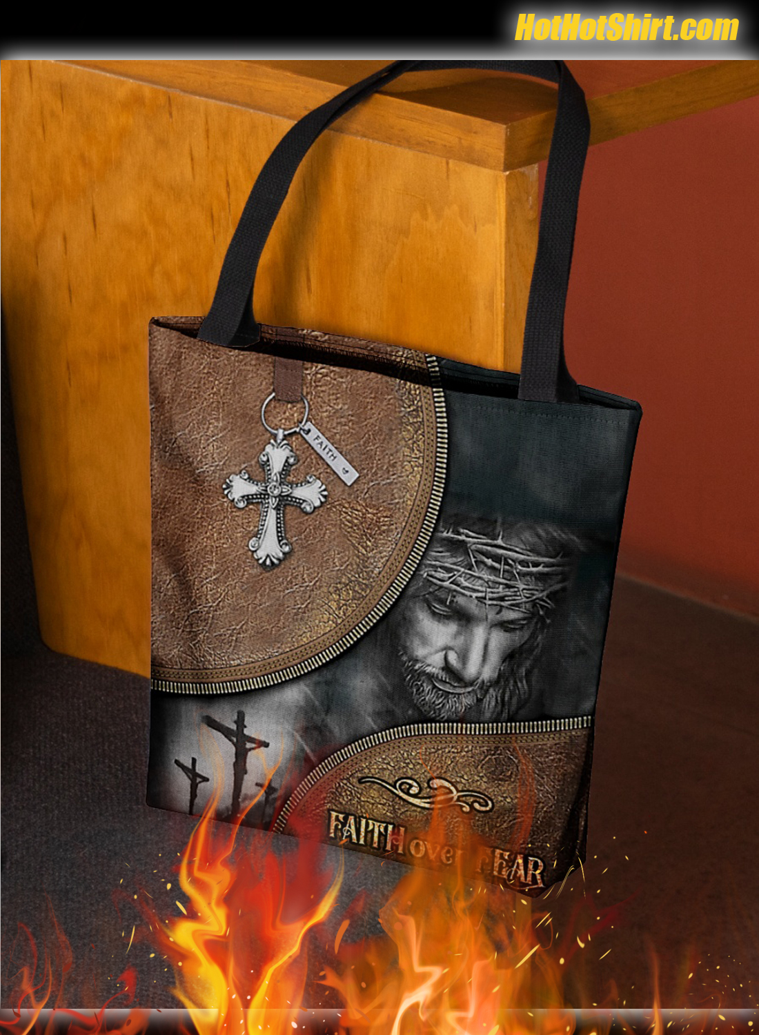 Fate Over Fear Tote Bag 2