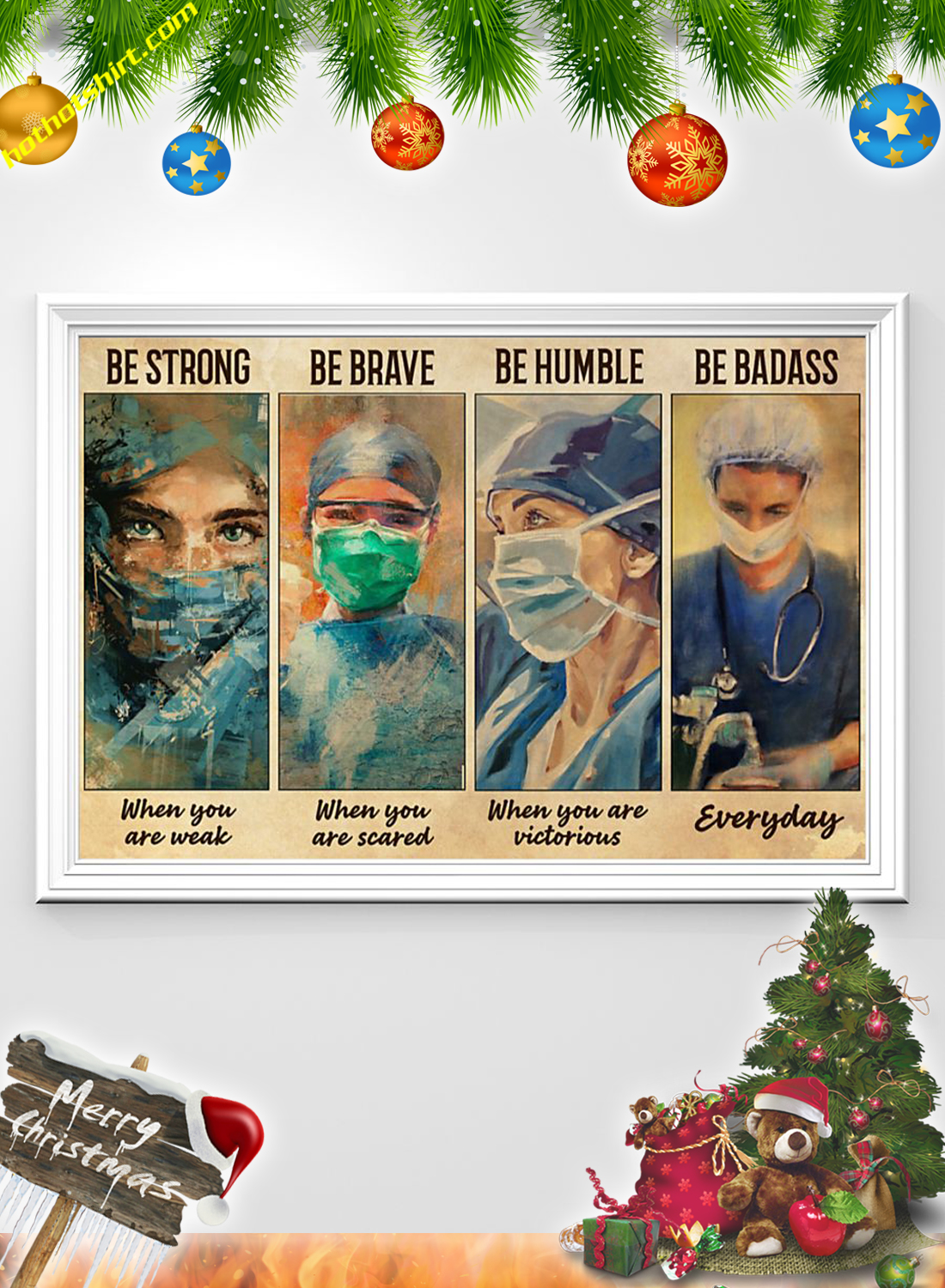 Female Physicians Be strong be brave be humble be badass poster 1