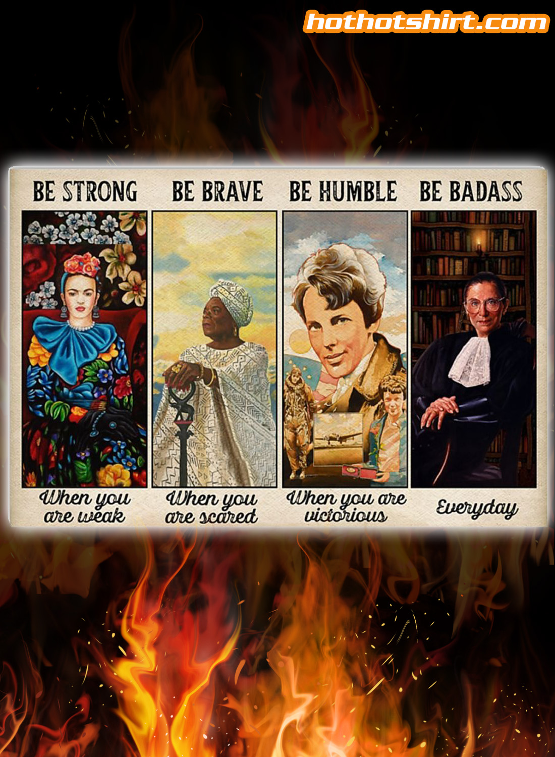 Feminist Be strong be brave be humble poster 2