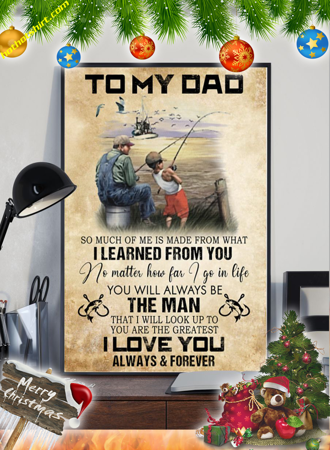 Fishing To my dad so much of me is made from what poster 1