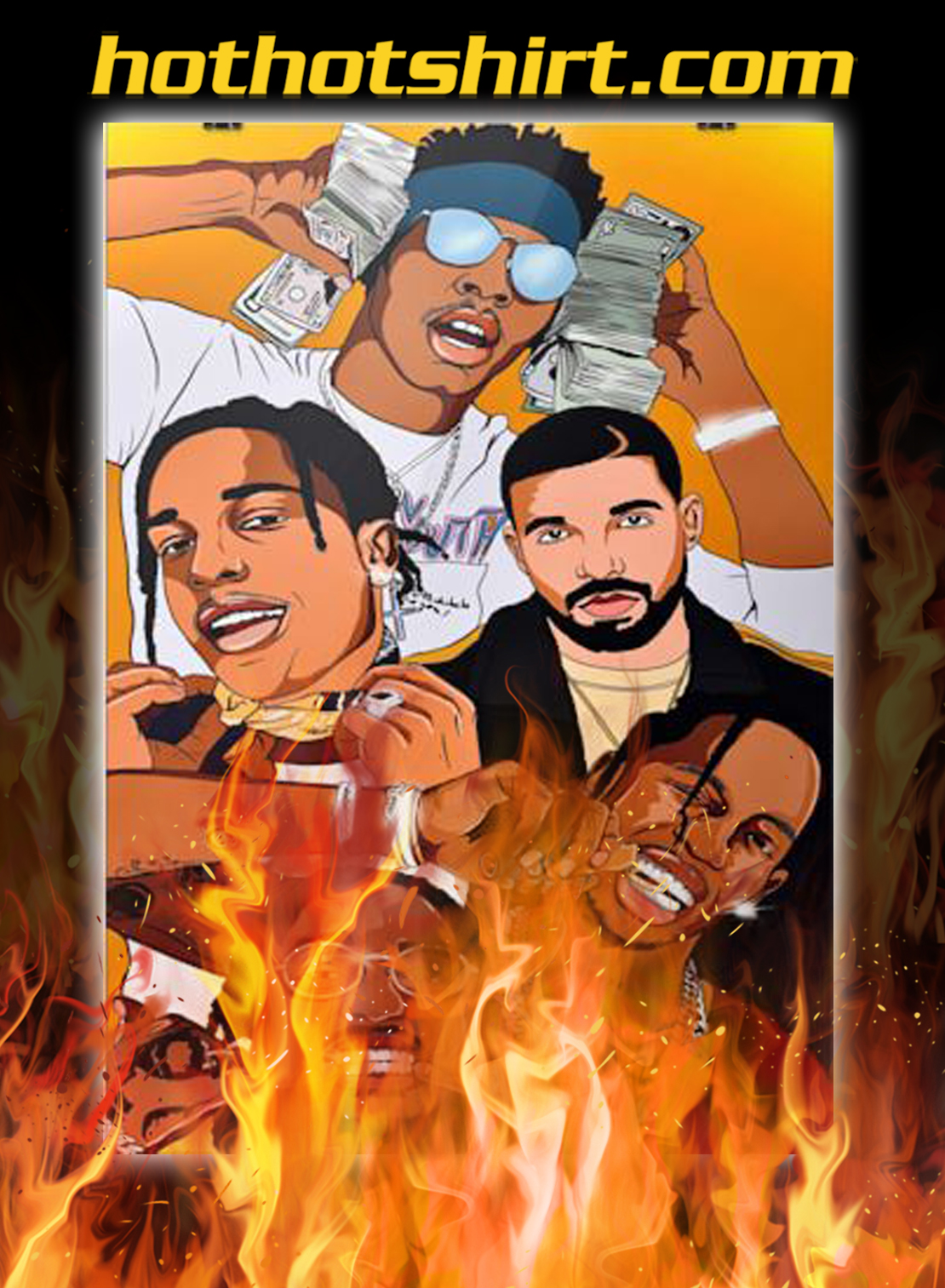 Frameless Music Hip Hop Rappers Poster - A4