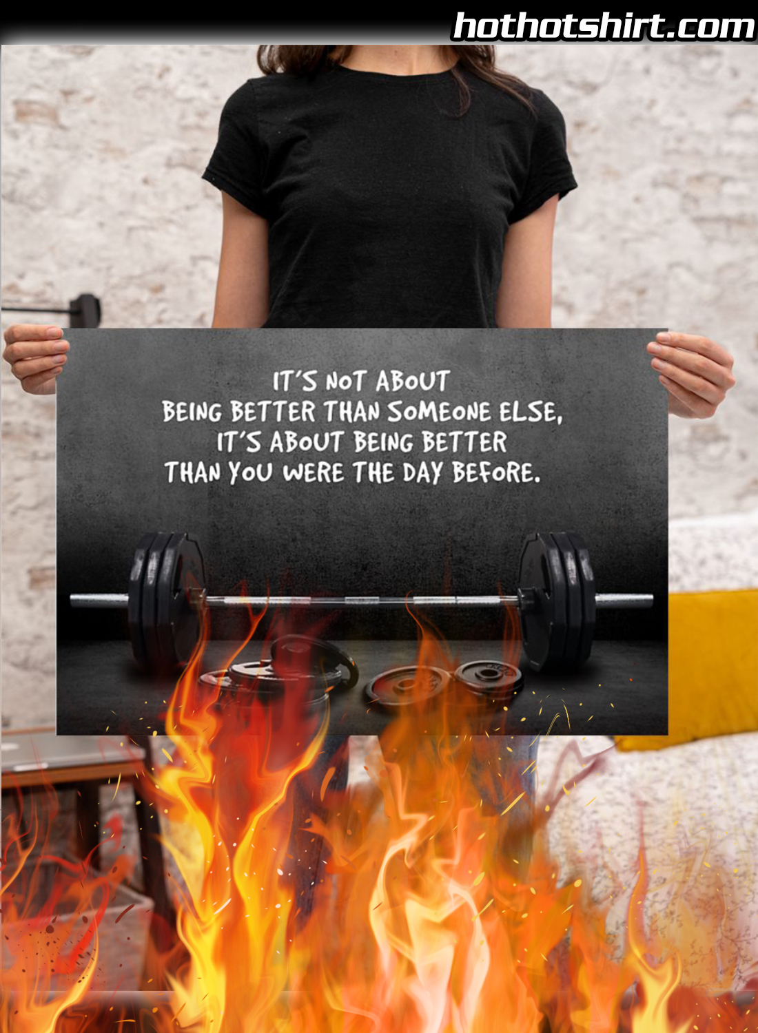 Gym Barbell It's Not About Being Better Than Someone Else Poster 3