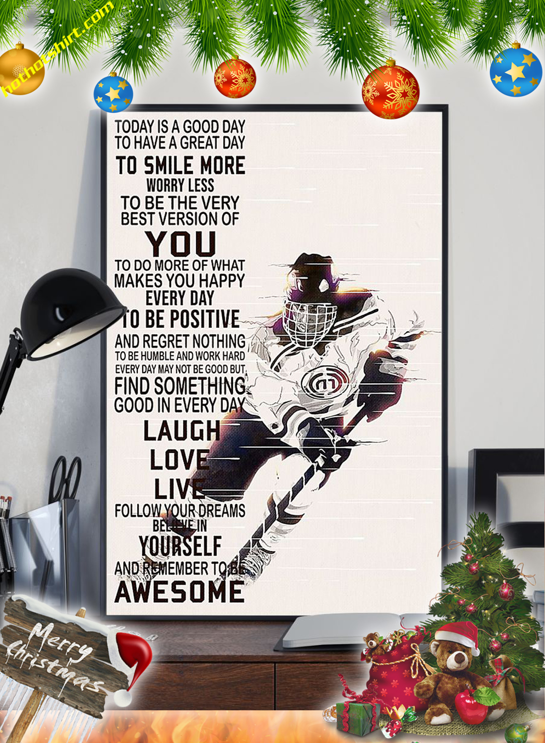 Hockey Today is a good day poster 1