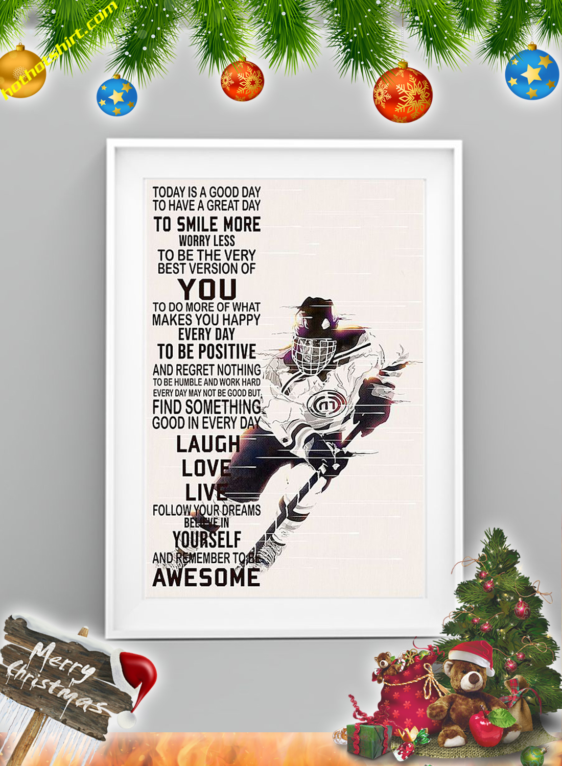 Hockey Today is a good day poster 2