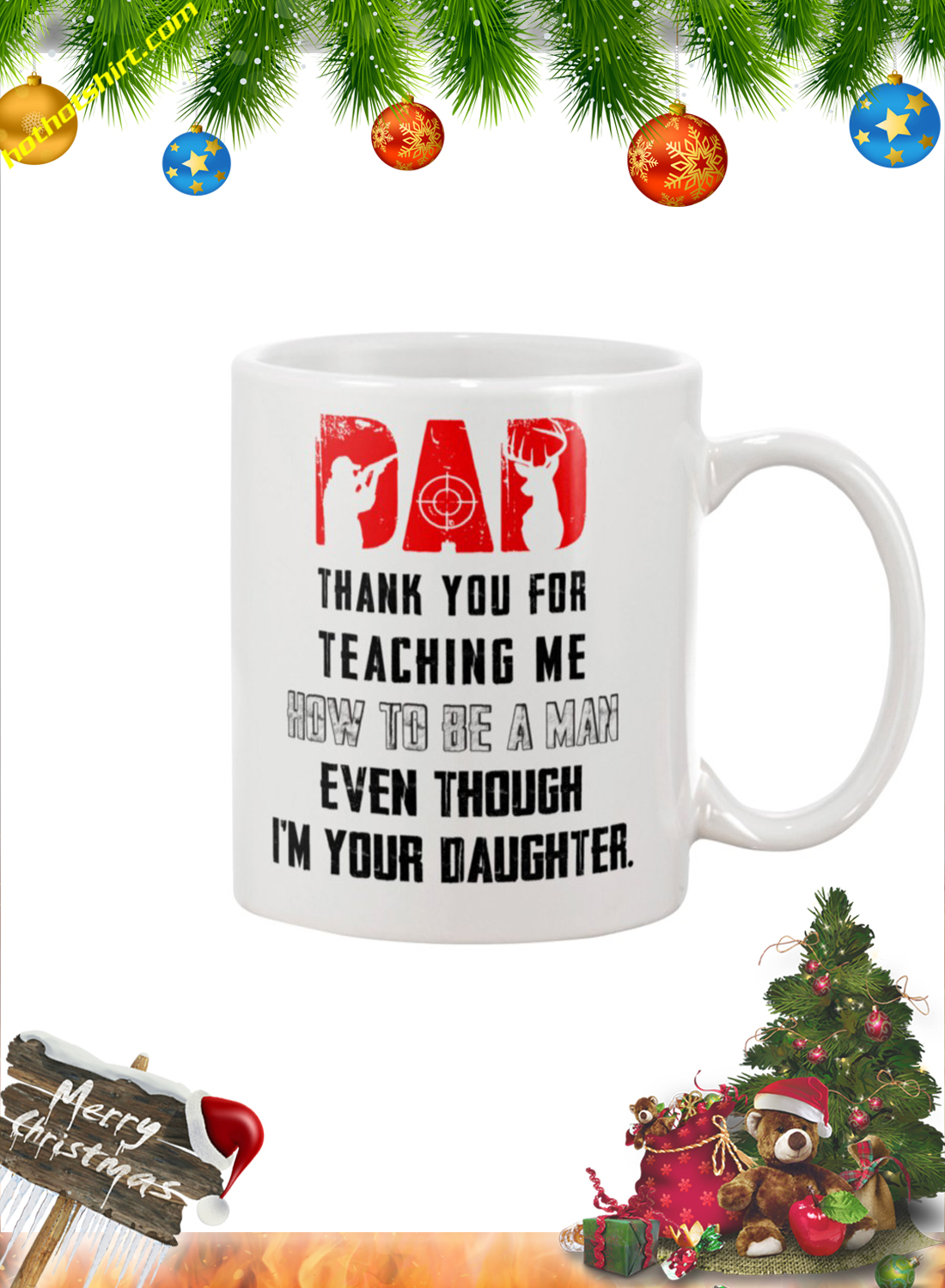 Hunter Dad thank you for teaching me mug 1