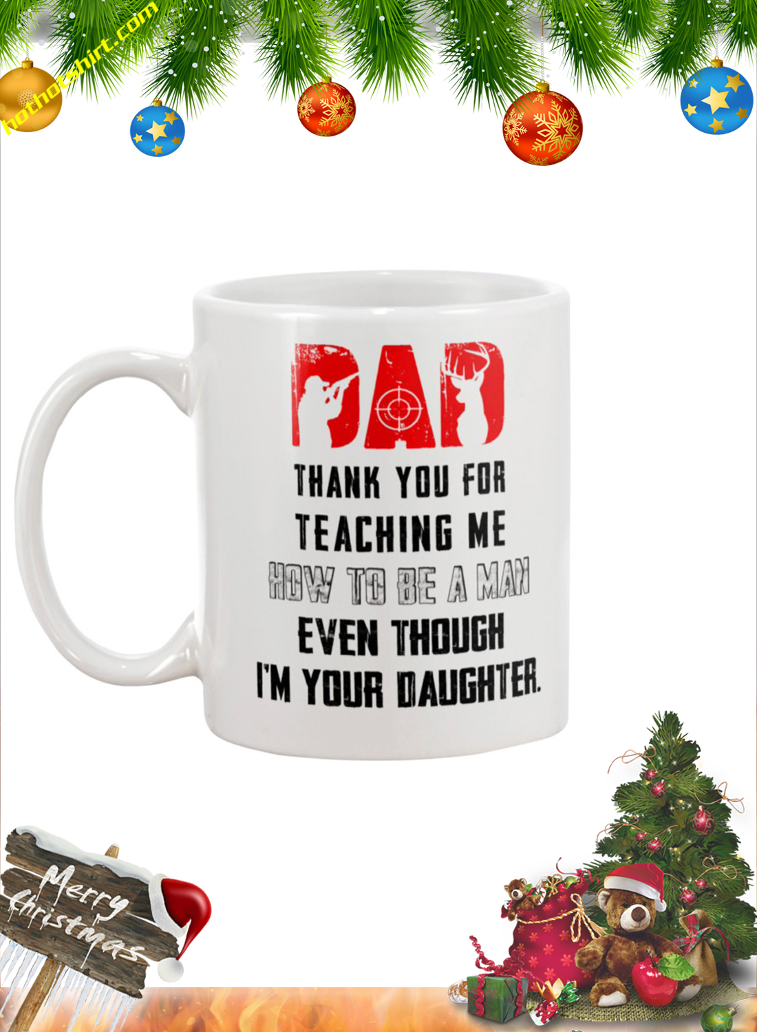 Hunter Dad thank you for teaching me mug 2