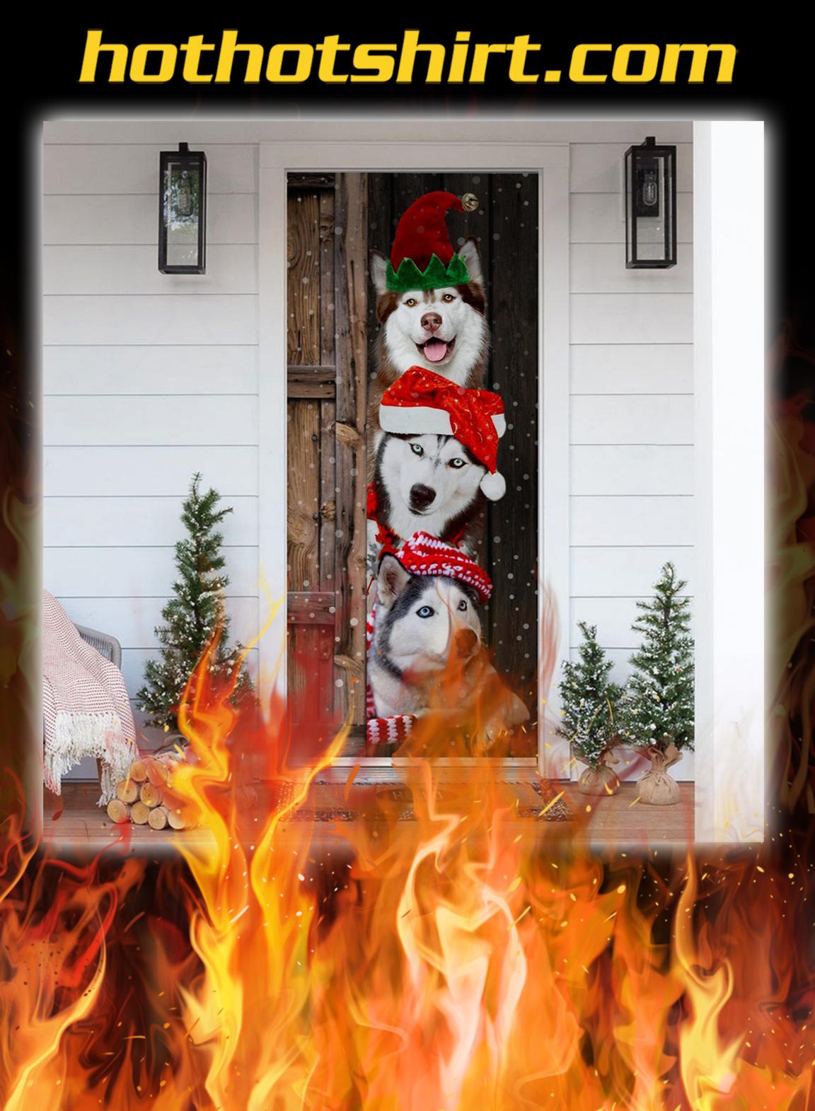 Husky Christmas Door Cover - pic 1