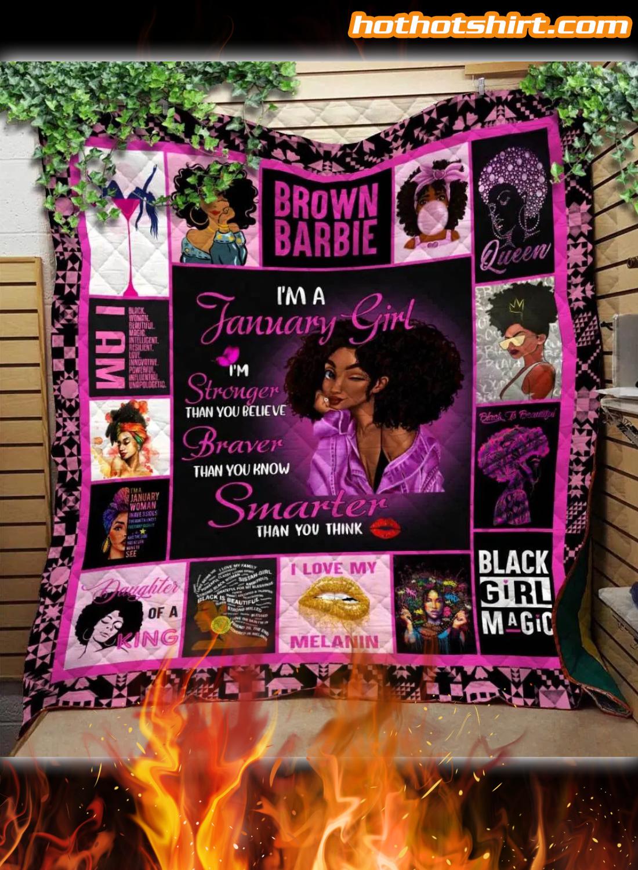 I Am January Girl Quilt Blanket 1