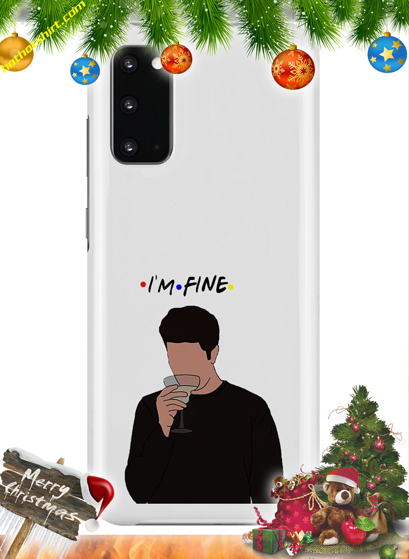 I'm fine ross friends phone case 2